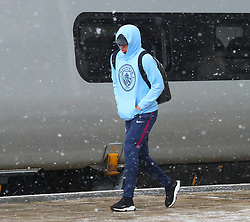 Gabriel Jesus and The Manchester City team are seen at Manchester Piccadilly Train Station on Thursday morning as they make their trip to London to face Arsenal in the premier league