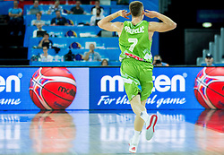 Klemen Prepelic of Slovenia reacts during basketball match between Slovenia and Georgia at Day 2 in Group C of FIBA Europe Eurobasket 2015, on September 6, 2015, in Arena Zagreb, Croatia. Photo by Vid Ponikvar / Sportida