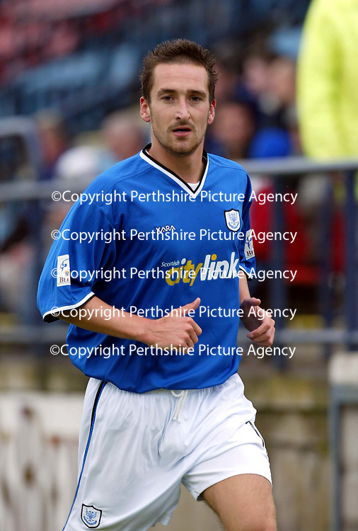 Montrose v St Johnstone....10.07.04<br />Trialist Mark Robinson<br /><br />Picture by Graeme Hart.<br />Copyright Perthshire Picture Agency<br />Tel: 01738 623350  Mobile: 07990 594431