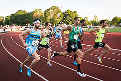 Adrian Martinez Classic track meet, Men's High Performance 800m, section 2 (fast), start, Merber, Mulder, Martin