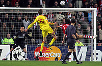 Photo: Paul Thomas.<br />PSV Eindhoven v Liverpool. UEFA Champions League, Quarter Final, 1st Leg. 03/04/2007.<br /><br />Peter Crouch of Liverpool scores.