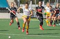 AMSTELVEEN -   Pleun van der Plas (DenBosch) tijdens  de hoofdklasse hockey competitiewedstrijd dames, Amsterdam-Den Bosch (0-1)  COPYRIGHT KOEN SUYK