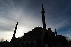 THEMENBILD - Hagia Sophia. Istanbul, früher Konstantinopel, ist die größte Stadt der Türkei. Sie liegt am Bosporus und liegt am Schnittpunkt von Asien und Europa. Aufgenommen am 06.03.2016 in Istanbul, Türkei // Ayasofya. Istanbul, former Constantinople, is the biggest City of Turkey. Turkey on 2016/03/06. EXPA Pictures © 2016, PhotoCredit: EXPA/ Michael Gruber