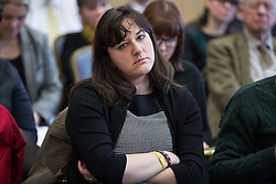 © Licensed to London News Pictures . 16/02/2017. Stoke-on-Trent, UK. RUTH SMEETH MP in the audience for a hustings in Stoke-on-Trent Central by-election for local businesses with Lib Dem candidate Dr Zulfiqar Ali, Conservative candidate Jack Brereton,  Labour candidate Gareth Snell and, in place of UKIP candidate Paul Nuttall who didn't turn up , Patrick O'Flynn . Photo credit: Joel Goodman/LNP