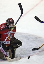 Robert Kristan of Jesenice at ice hockey match Acroni Jesencie vs ZM Olimpija in second round of final of Slovenian National Championship,  on April 5, 2008 in Arena Podmezaklja, Jesenice, Slovenia. Acroni Jesenice won the game 6:1 and lead the series 2:0.  (Photo by Vid Ponikvar / Sportal Images)