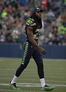 Aug 25, 2017; Seattle, WA, USA; Seattle Seahawks cornerback Richard Sherman (25) reacts during a NFL football game against the Kansas City Chiefs at CenturyLink Field. The Seahawks defeated the Chiefs 26-13.