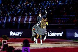 WERTH Isabell (GER), Emilio<br /> Stuttgart - German Masters 2019<br /> Siegerehrung<br /> Preis der Firma tisoware<br /> GERMAN DRESSAGE MASTER<br /> Grand Prix Special<br /> 17. November 2019<br /> © www.sportfotos-lafrentz.de/Stefan Lafrentz