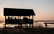 Wschód słońca nad rzeka Biebrzą