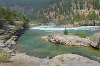 Kootenai Falls Montana, a series of cascades on the Kootenai River