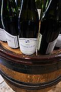 bottles in the tasting room pommard dom h & g buisson st romain cote de beaune burgundy france
