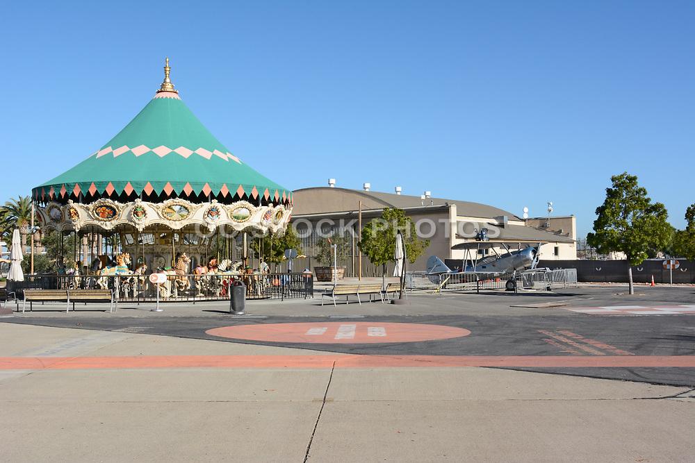 Carousel at Orange County Great Park Irvine and  Vintage Plane Hangar