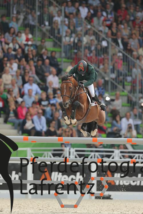 Ouaddar, Abdelkebir, Quickly de Kreisker<br /> Normandie - WEG 2014<br /> Springen - Finale IV<br /> © www.sportfotos-lafrentz.de/ Stefan Lafrentz