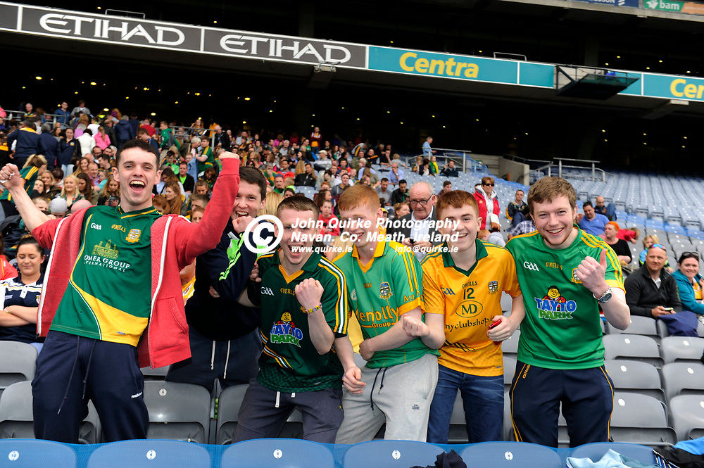 25-06-16. Meath v Antrim - Christy Ring Cup Final (Replay) at Croke Park.<br /> Meath supporters from Dunboyne.<br /> Photo: John Quirke / www.quirke.ie<br /> ©John Quirke Photography, Unit 17, Blackcastle Shopping Cte. Navan. Co. Meath. 046-9079044 / 087-2579454.