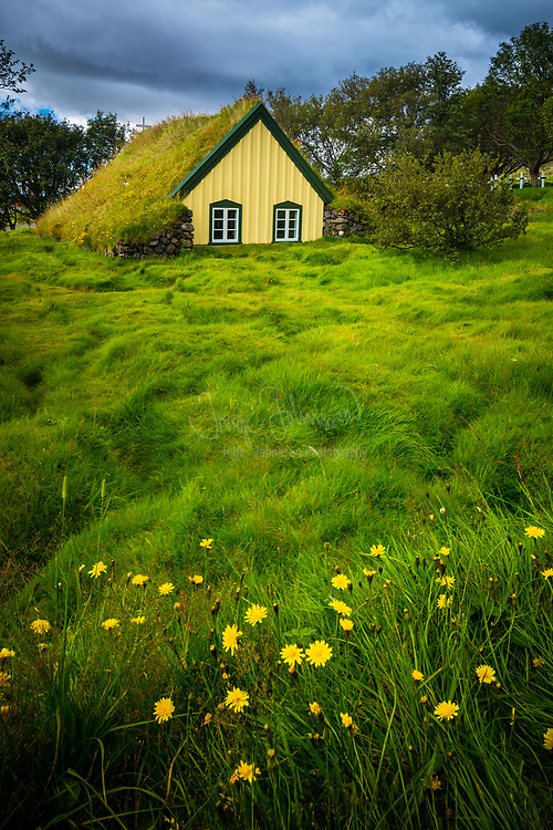 Hof, in Öræfi, is a cluster of farms in the municipality of Sveitarfélagið Hornafjörður in southeast Iceland, close to Vatnajökull glacier, and twenty two kilometres south of Skaftafell in Vatnajökull National Park. It is located on the Route 1 southwest of Höfn, in the narrow strip between the sea coast and the glacier.<br /> <br /> A notаble building in Hof is a turf church, which was built in 1883 and is the youngest turf church in Iceland. Since 1951, it belongs to the National Museum of Iceland.