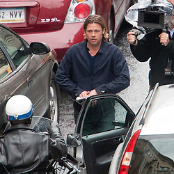 Brad Pitt films World War Z, day 2