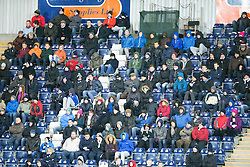 South stand. <br /> Falkirk 1 v 0 Cowdenbeath, Scottish Championship game played 31/3/2015 at The Falkirk Stadium.
