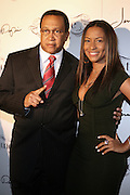 l to r: Dr. Ben Chavis and Valeisha Butterfield at The Jermaine Dupri Birthday Celebrration held at Tenjune in New York City on September 23, 2008