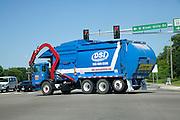 Gigantic garbage pickup truck. Burnsville Minnesota MN USA