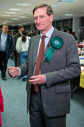© Licensed to London News Pictures. 13/12/2019. Denham, UK. Independent candidate Dominic Grieve prepares for a TV interview after arriving at the offices of the South Bucks District Council for the Beaconsfield constituency vote count for the 2019 General election. Photo credit: Peter Manning/LNP