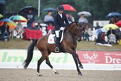 Fisch Ferdinand, (GER), Marburg's Zardetto<br /> First Qualifier 6 years old horses<br /> World Championship Young Dressage Horses - Verden 2015<br /> © Hippo Foto - Dirk Caremans<br /> 07/08/15
