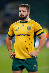 Australia replacement James Hanson looks dejected after after England beat Australia 26-17 - Photo mandatory by-line: Rogan Thomson/JMP - 07966 386802 - 29/11/2014 - SPORT - RUGBY UNION - London, England - Twickenham Stadium - England v Australia - QBE Autumn Internationals.