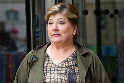 © Licensed to London News Pictures. 14/07/2019. London, UK. Shadow Secretary of State for Foreign and Commonwealth Affairs Emily Thornberry leaves the BBC. She leaves after appearing on the Andrew Marr Show. Photo credit: George Cracknell Wright/LNP