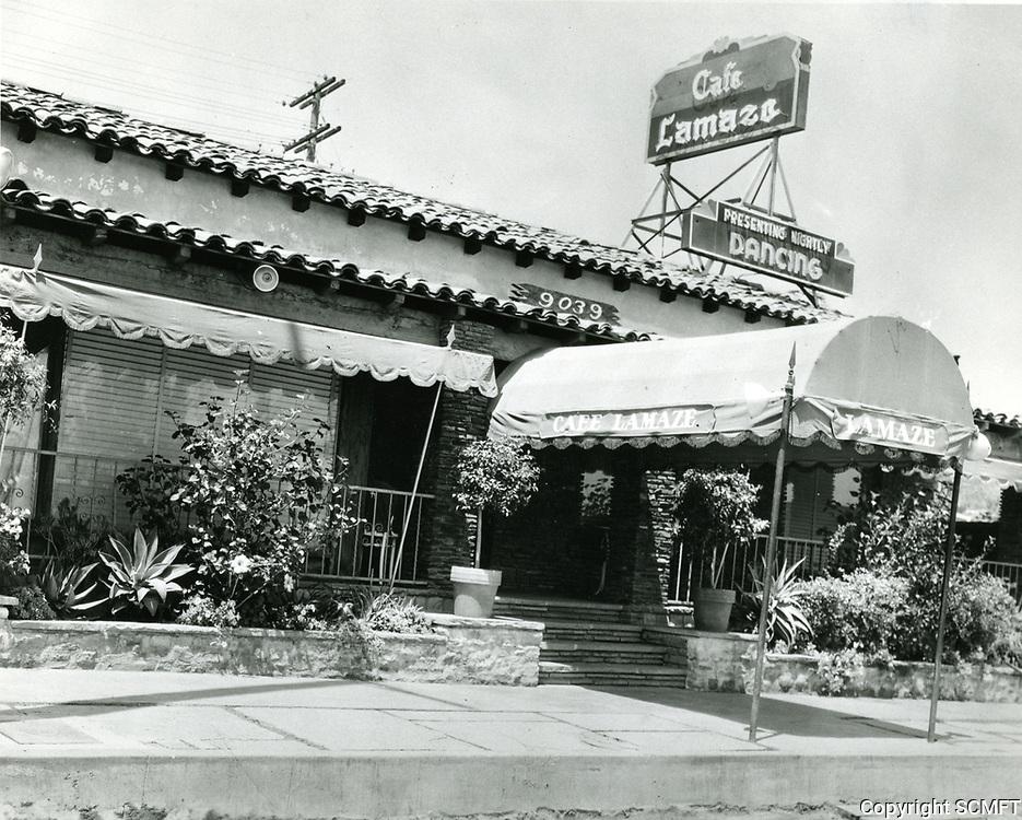 1940 Cafe Lamaze on Sunset Blvd. in West Hollywood