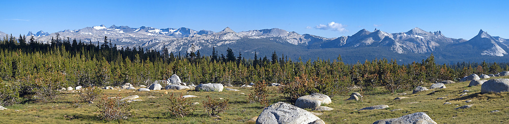 The Cathedral Range from near Tuolemne Meadows, Yosemite National Park, California