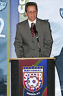 28 August 2006: Hall of Fame Induction Ceremony emcee J.P. Dellacamera. The National Soccer Hall of Fame Induction Ceremony was held at the National Soccer Hall of Fame in Oneonta, New York.