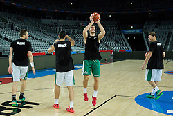 Zoran Dragic of Slovenia during practice session of Team Slovenia at Day 3 in Group C of FIBA Europe Eurobasket 2015, on September 7, 2015, in Arena Zagreb, Croatia. Photo by Vid Ponikvar / Sportida