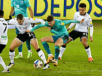 Football - 2020 / 2021 Sky Bet Championship - Swansea City vs AFC Bournemouth - Liberty Stadium<br /> <br /> David Brooks of Bournemouth on the attack <br />  in a stadium without fans because of the pandemic crisis<br /> <br /> COLORSPORT/WINSTON BYNORTH