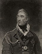 Thomas Graham, Baron Lynedoch (1750-1843) Scottish general who fought in  the Napoleonic Wars. He served under Sir John Moore in Portugal in the Peninsular campaign. Victorious at Barossa 1811. Commanded left wing at Vittoria 1813.  Stipple engraving from 'History of the Wars Occasioned by the French Revolution...' by CH Gifford (London, 1817).