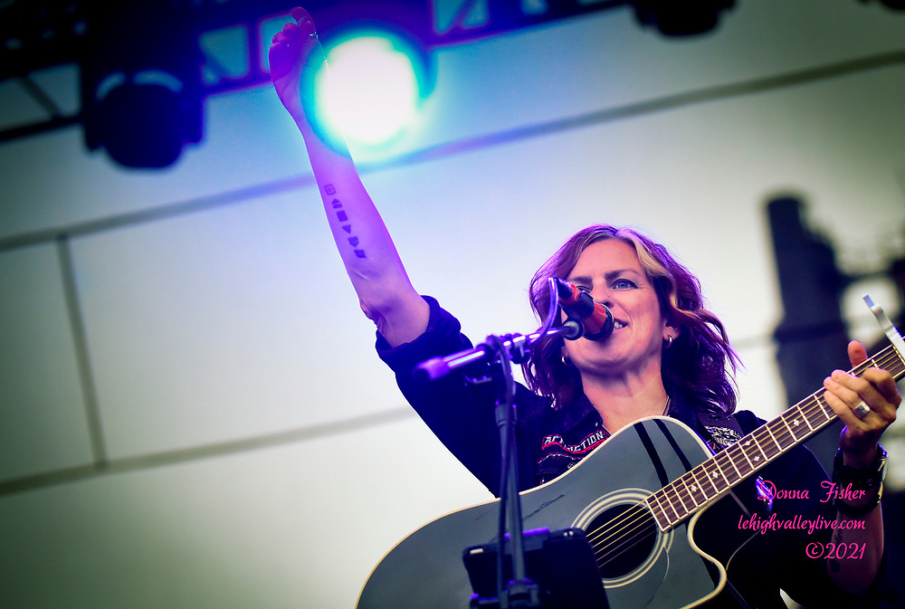 Christine Havrilla plays her show at Musikfest on August 7, 2021. Preservation Hall Jazz Band, Christine Havrilla and Hector Rosado perform at Wind Creek Steel Stage on August 7, 2021. Musikfest, a festival of ArtsQuest, is held August 6 –15, 2021 in Bethlehem, Pa..
