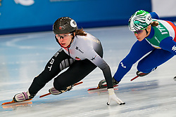Short tracker Petra Jaszapati HUN in action on the 1500 meter semifinals during ISU European Short Track Speed Skating Championships 2020 on January 25, 2020 in Fonix Hall, Debrecen, Hungary