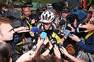 Tom Dumoulin (NED - Team Sunweb) is attacked by journalists immediately after the finish during the 105th Tour de France 2018, Stage 17, Bagneres de Luchon - Col du Portet (65 km) on July 25th, 2018 - Photo George Deswijzen / Pro Shots / ProSportsImages / DPPI