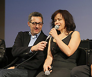 l to r: John Tutturo and Rosie Perez at The ImageNation celebration for the 20th Anniversary of ' Do the Right Thing' held Lincoln Center Walter Reade Theater on February 26, 2009 in New York City. ..Founded in 1997 by Moikgantsi Kgama, who shares executive duties with her husband, Event Producer Gregory Gates, ImageNation distinguishes itself by screening works that highlight and empower people from the African Diaspora.