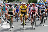 CYCLING - TOUR DE FRANCE 2011 - STAGE 5 - Carhaix > Cap Frehel (164,5 km) - 06/07/2011 - PHOTO : JULIEN CROSNIER / DPPI - THOR HUSHOVD (NOR) / TEAM GARMIN - CERVELO -CADEL EVANS (AUS) / BMC RACING TEAM