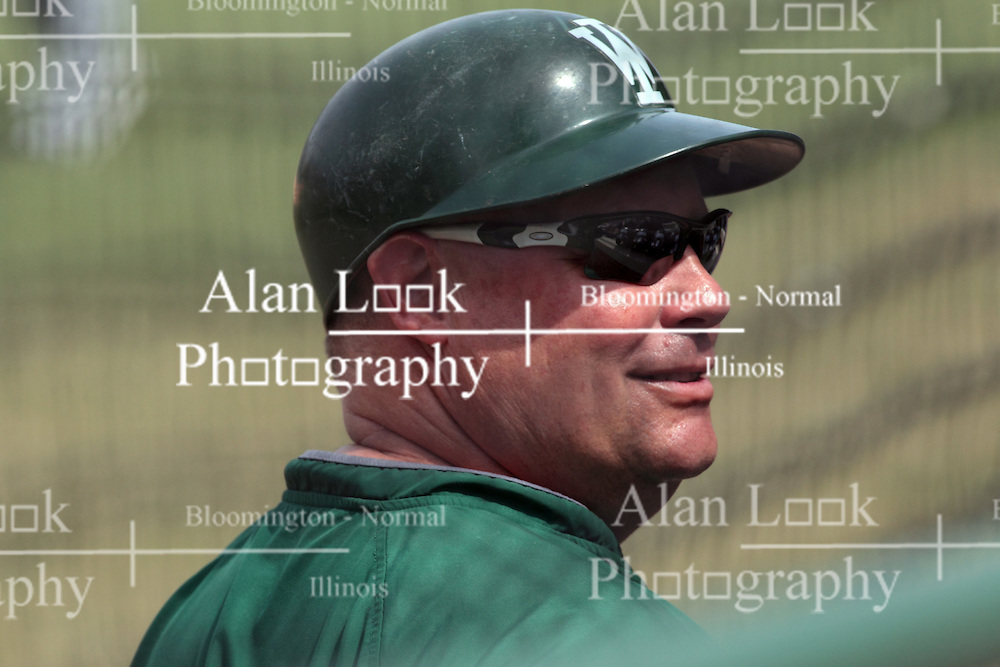 12 April 2014:  Dennis Martel during an NCAA division 3 College Conference of Illinois and Wisconsin (CCIW) baseball game between the Augustana Vikings and the Illinois Wesleyan Titans at Jack Horenberger Stadium, Bloomington IL