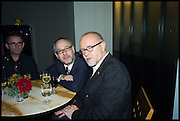 PAUL KILDEA; CHRIS RICKWOOD; PAUL SCHUTZE, Frieze party, ACE hotel Shoreditch. London. 18 October 2014