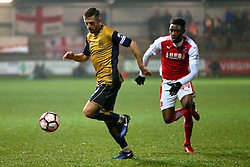 Gary O'Neil of Bristol City in action with Devante Cole of Fleetwood Town - Mandatory by-line: Matt McNulty/JMP - 17/01/2017 - FOOTBALL - Highbury Stadium - Fleetwood,  - Fleetwood Town v Bristol City - Emirates FA Cup Third Round Replay