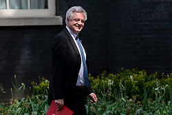 © Licensed to London News Pictures. 22/05/2018. London, UK. Secretary of State for Exiting the European Union David Davis on Downing Street after the Cabinet meeting. Photo credit: Rob Pinney/LNP