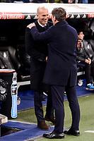 Real Madrid's coach Zinedine Zidane and Celta de Vigo's coach Eduardo Berizzo during Copa del Rey match between Real Madrid and Celta de Vigo at Santiago Bernabeu Stadium in Madrid, Spain. January 18, 2017. (ALTERPHOTOS/BorjaB.Hojas)