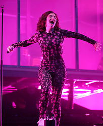 Lorde performing on the Other Stage, at the Glastonbury Festival at Worthy Farm in Pilton, Somerset.