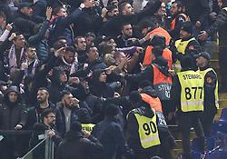November 27, 2018 - Rome, Italy - AS Roma v FC Real Madrid : UEFA Champions League Group G.Scuffle between Madrid supporters and stewards at Olimpico Stadium in Rome, Italy on November 27, 2018. (Credit Image: © Matteo Ciambelli/NurPhoto via ZUMA Press)