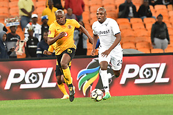 Gauteng, Johannesburg - Kaizer Chiefs player Willard Katsande and Bidvest Wits player Gift Motupa battle for the ball during the ABSA premiership game FNB Stadium.<br />Picture: Itumeleng English/African News Agency (ANA)