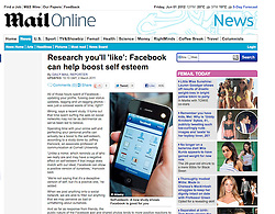 Tearsheet from The Mail Online; IPhone and Facebook