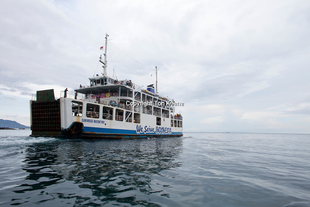 ferry between Bali and main land Indonesia.