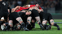 Rugby Union - 2017 British & Irish Lions Tour of New Zealand - First Test: New Zealand vs. British & Irish Lions<br /> <br /> Sean O'Brien of The British and Irish Lions looks over the scrum at Eden Park, Auckland.<br /> <br /> COLORSPORT/LYNNE CAMERON