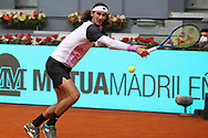 Lloyd Harris of South Africa in action during his Men's Singles match, round of 64, against Grigor Dimitrov of Bulgaria on the Mutua Madrid Open 2021, Masters 1000 tennis tournament on May 3, 2021 at La Caja Magica in Madrid, Spain - Photo Laurent Lairys / ProSportsImages / DPPI