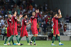 August 31, 2017 - Porto, Portugal - Portugal's forward Cristiano Ronaldo and teammates after the 2018 FIFA World Cup qualifying football match between Portugal and Faroe Islands at the Bessa XXI stadium in Porto, Portugal on August 31, 2017. (Credit Image: © Pedro Fiuza/NurPhoto via ZUMA Press)